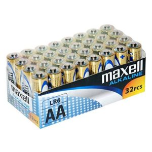 Maxell Pila Alcalina AA LR06 Pack*32 PilaS