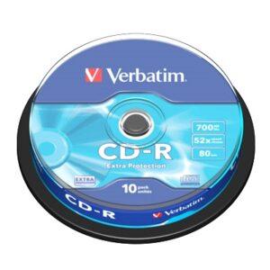 Verbatim CD-R 700MB 52x Tarrina 10Uds