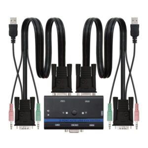 Nanocable KVM Switch VGA USB 1u-2PC+Cable