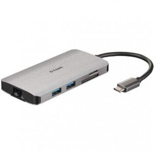 D-Link DUB-M810 Hub USB-C 8 en 1 HDMI/Eth/CardRead
