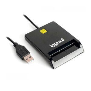 iggual Lector tarjetas ID DNI SIP USB 2.0 negro