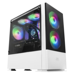 Mars Gaming Caja MCZ PREMIUM M-ATX 2X FRGB Blanca
