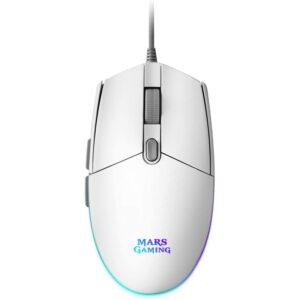 Mars Gaming Ratón MMG 3200dpi RGB FLOW Blanco
