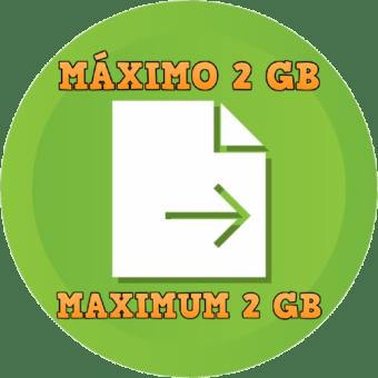 MÁXIMO 2 GB